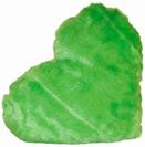 כרית לב ירוק פרווה