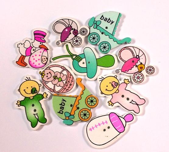 כפתורים מעץ - תינוקות