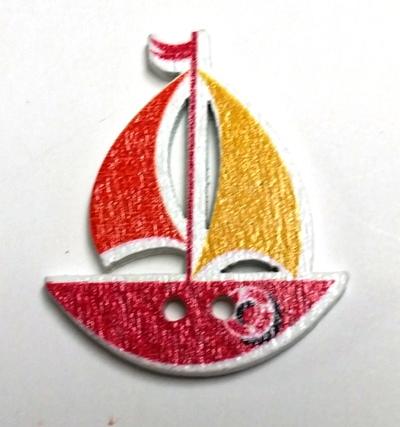 כפתורים מעץ- יםׁ(סירות)