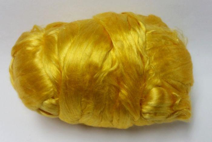סיבי משי טבעיים, צהוב זהב
