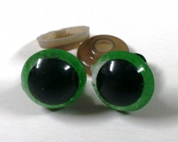 """זוג עיניים 12 מ""""מ בטיחותיות-ירוק"""