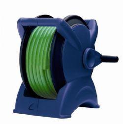גלגלת REEL X כחולה מורכבת עם צינור גן ירוק 20 מטר+אביזרים