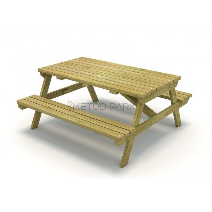 METOD 11PM שולחן פיקניק מעץ תוצרת אירופה