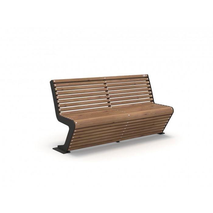METOD 62B ספסל עץ עם גב תוצרת אירופה