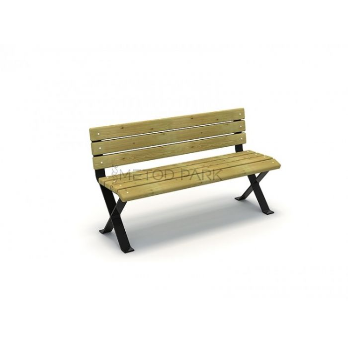 METOD 29B ספסל עץ מתכת רגליים ברזל