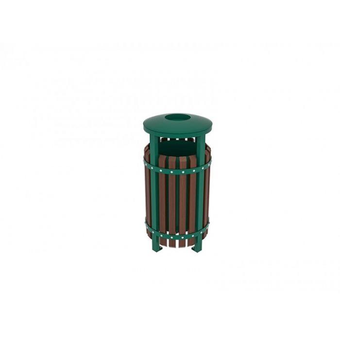 METOD 15CK פח אשפה ברזל ירוק
