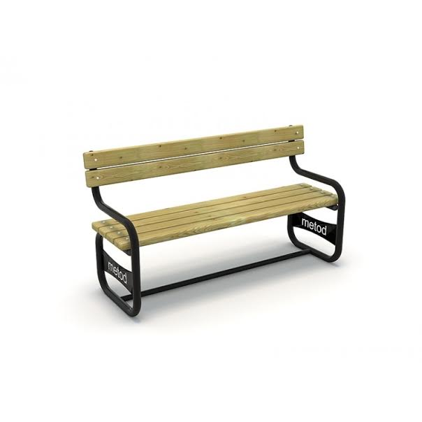 METOD 28B - ספסל עץ מתכת עם ידית
