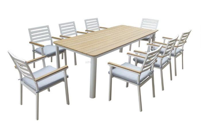 בריסל מערכת ישיבה לגינה עם 6 כסאות