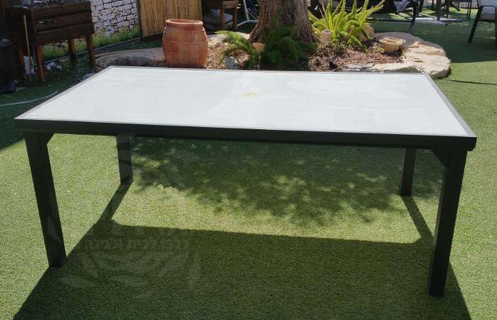 שולחן לחצר אלומיניום 1.80