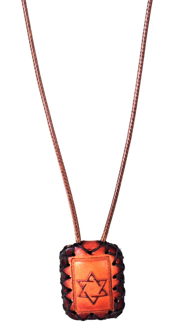 Breslov amulet | Magen David | Leather Amulet