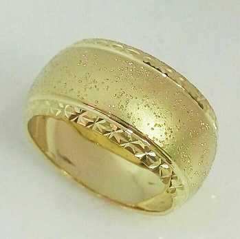 טבעת נישואין זהב לאישה מט עדין עם נקודות נצנץ מפוזר (4035)