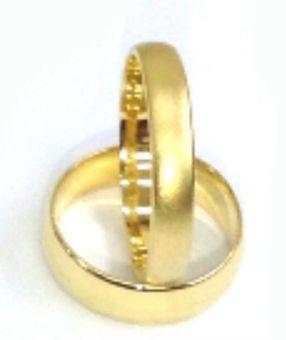 """טבעת זהב חלקה חצי עגול רוחב 4-6 מ""""מ לפי בחירה (4505)"""