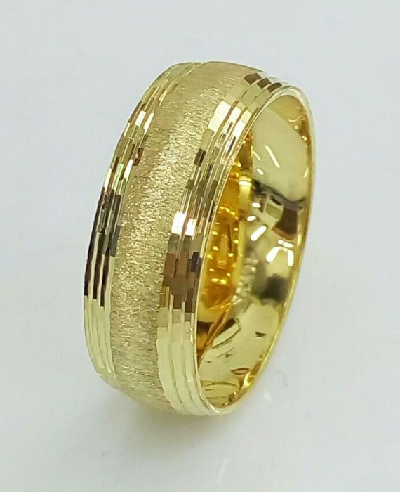 טבעת נישואין עם חריטה מיוחדת (4470)