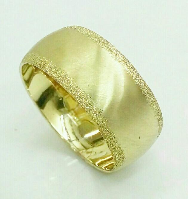 טבעת נישואין מט עדין וקנט נצנץ (4390)