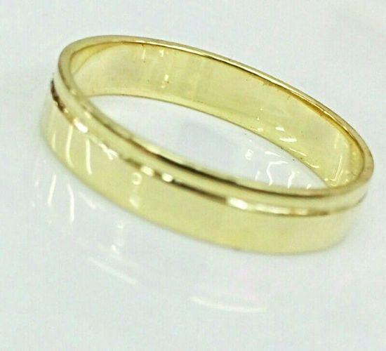 טבעת נישואין פשוטה לגבר עם פס אחד לאורך (4550)