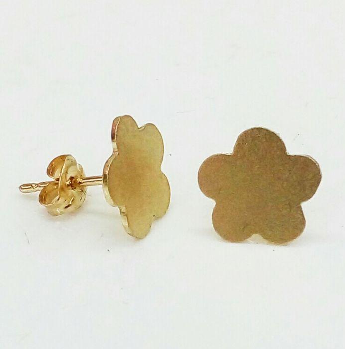 זוג עגילים פרח צמוד לאוזן