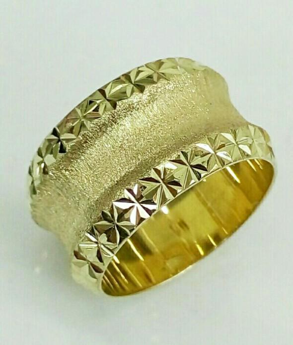 """טבעת נישואין זהב רוחב 12.5 מ""""מ (4235)"""