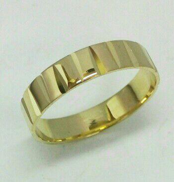 """טבעת זהב לגבר ברוחב 5 מ""""מ (4480)"""