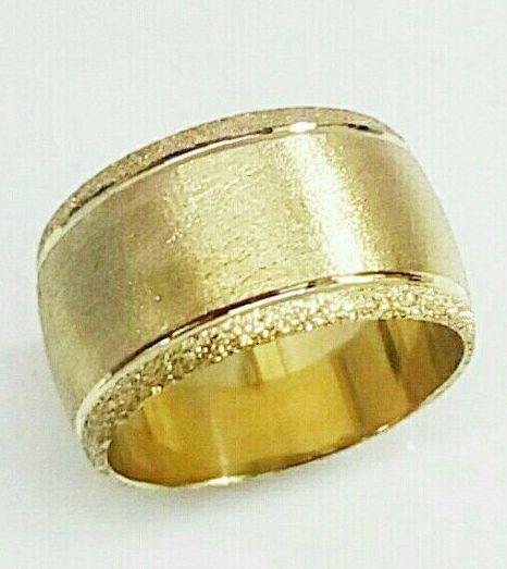 """טבעת נישואין מעוצבת ברוחב 12 מ""""מ (4442)"""