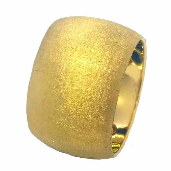 """טבעת נישואין זהב חריטה מט רוחב 13 מ""""מ (4396)"""