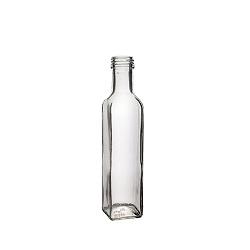 בקבוק 250 מרובע שקוף