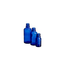 בקבוק 30 זכוכית כחול קובלט