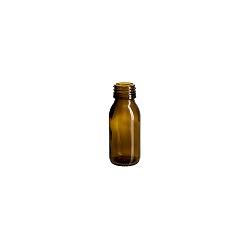 בקבוק 90 זכוכית חום 28