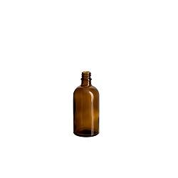 בקבוק 100 זכוכית חום הברגה
