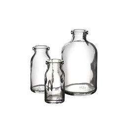 בקבוק 8 זכוכית לחץ לבן