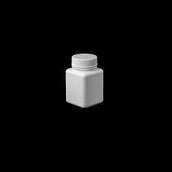 צנצנת 60 טבליות לבנה מרובעת