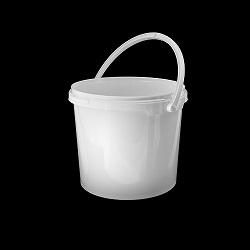דלי 5.5 ליטר לבן