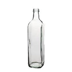 בקבוק 750 מרובע שקוף