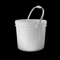 דלי 10.5 ליטר לבן
