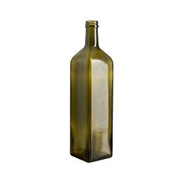 בקבוק ליטר מרובע ירוק