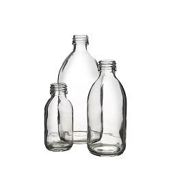 בקבוק 200 זכוכית שקוף 28