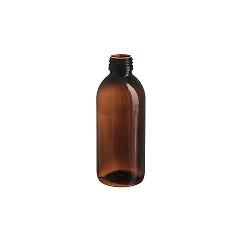 בקבוק 250 PET חום לוג ללא פקק