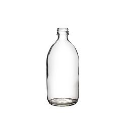 בקבוק 500 זכוכית שקוף 28