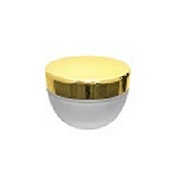 צנצנת 50 זכוכית קוני פרוסטד  זהב