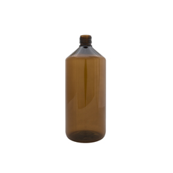 בקבוק ליטר PET חום ללא פקק