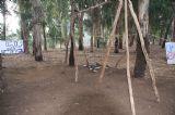 בפעילות השטח של יער בראשית יש וגם קצת פנאי, נבנה נדנדות מחלקי עץ ישנים וכמה חוטים