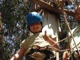 אנחנו מוכנים לפעילות ! רגע לפני תחילת מסלול האטרקציות האתגריות ומסלול הקופים ביער בראשית