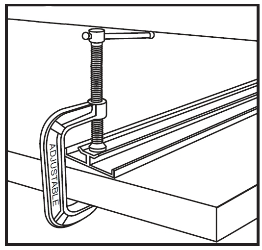 סרגל C560 מתחבר לשולחן מצד אחד עם קלמרה