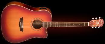 גיטרה אקוסטית WASHBURN USM מוגברת