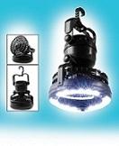 מאוורר לטיולים בתוספת תאורת LED לשטח