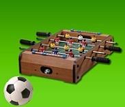 משחק כדורגל שולחני.