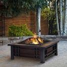 שולחן מרובע גדול לחצר,עם מקום לחימום.