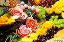 בר פירות- גילוף וסידור פירות אקזוטיים