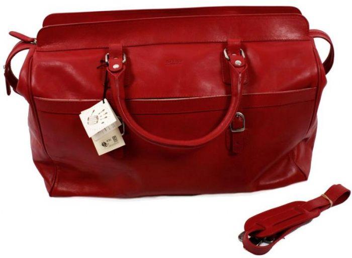 תיק נסיעות אישי עור ברידג' דגם 014 אדום