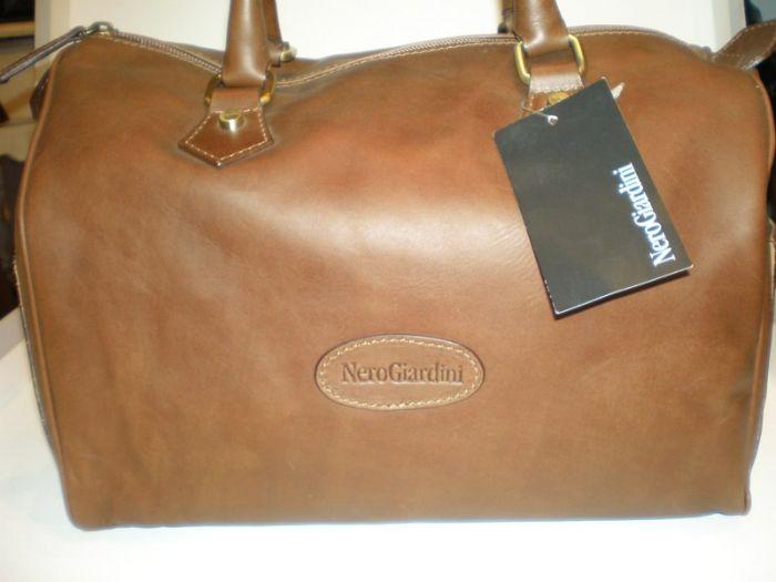 תיק עור נפה חום דגם באולינג 140190  Nerogiardini