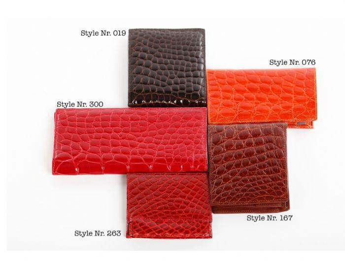 ארנקים מעור תנין דגמים שונים - בהזמנה אישית של תיק ניתן להזמין ארנק תואם עור וצבע